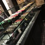 macaroons and chocolates in the shop