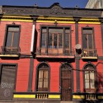 Brightly coloured antique building