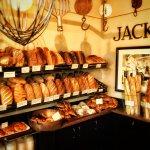 Fresh breads on display
