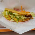 Beef crispy shell taco