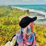 Pantai madasari dari mercusuar
