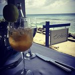 The sangria, and view of beach-side entrance