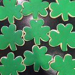 St Patty's Day shamrock sugar cookies