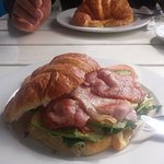 Breakfast croissant - bacon, rocket, avo