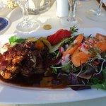 Geflügelleber mit Salat