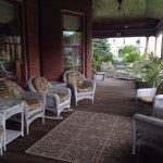 Spacious porch to lounge