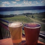 The view from the deck at Two Goats Brewing, overlooking Seneca Lake.