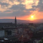 Easter Sunday, 2017 - Sunrise over the Arno