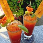 Strongly recommend a Moxie's Caesar, so delicious you will not be disappointed!