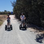 Mother and Son trying out the Segway with Michael