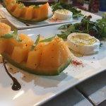 Cabacou and melon starter..........so delicious!!!