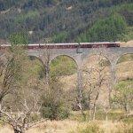 Jacobite Express viaduct running through Glenfinnan