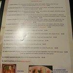specials menu page