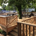 Our outside deck