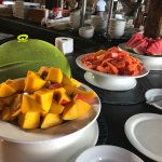 Free Continental Breakfast: fresh fruit, cereal, fresh Jamaican breads and jams, + order à la ca