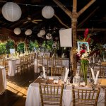 The Lodge, festively decorated as a Wedding Venue