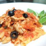 Pasta with Tuna tomato sauce.