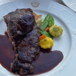 Steak with potatoes and squash veggies
