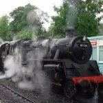 LMS engine at Grosmont Station