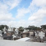 View of St.Louis cemetry from the bus