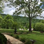 A view of the new fire pit, which overlooks the Blue Ridge Mountains