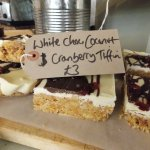 White Chocolate Coconut and Cranberry Tiffin