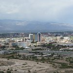 View of downtown Tucson from Sentinel Peak