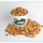 Our caramel popcorn is available with peanuts or cinnamon & pecans. Yum!!