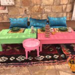 comfortable outdoor seating for lunch - Berber farmous