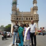 Standing in front of Charminar