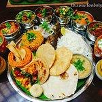 tastes of maharashtra - thali look