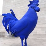 Blue Rooster on Rooftop Terrace