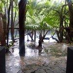 Lobby. Con cenote.