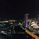 View of MBS from the Singapore Flyer.