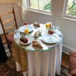 Our breakfast table by the window