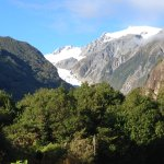 View of Fox Glacier from outside our room