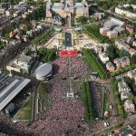 Museumplein during championship match Ajax-Manchester in Stockholm on 24.05.2017.