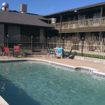 Our outdoor pool area is a great place to unwind and relax after a wonderful day in the hill cou