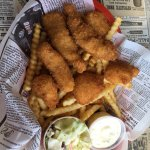 Oysters and fish and chips