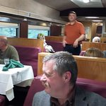 Frank the waiter in the dining car