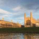 King's College Cambridge viewed from the banks of the River Cam
