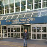 Photo taken by my partner outside the Copthorne Tara Hotel.