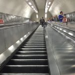 One of the many escalators in the London Underground