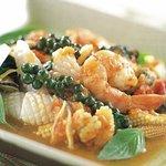 Pad Cha Mix Seafood