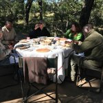A surprise al fresco breakfast prepared for us on a morning safari!