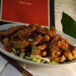 Sesame Chicken:  breaded chicken breast with a sweet, tangy, mildy spicy Sesame sauce