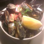 River Exe Mussells cooked with Chorizo and Cornish Orchards Cider