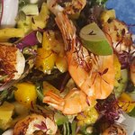 Tropical King Prawn, Roasted Mango and Pineapple Salad
