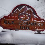 Winter Hotel Sign