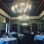 The beautiful oak panelled dining room for the Lawns Restaurant